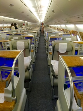 """Sea"" of Business class seats"