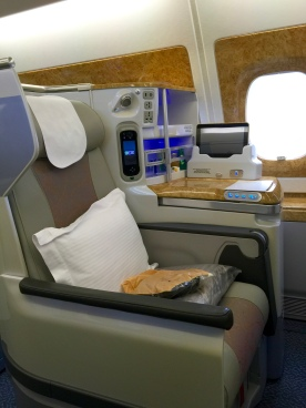 Every seat has its own minibar