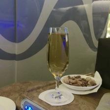 Necessary glass of bubbly