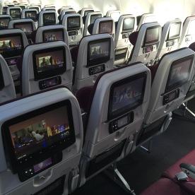 Economy class cabin