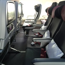 Detail of the economy seats