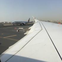 Prior take-off at DXB