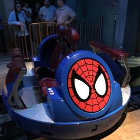 The ride spinning vehicle