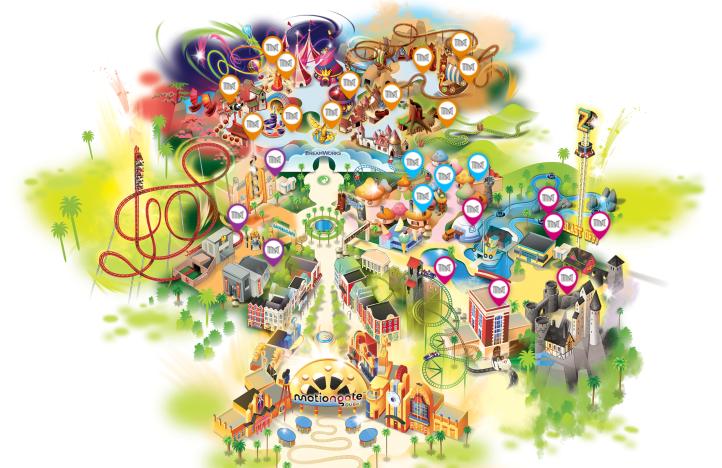Motiongate Park Map
