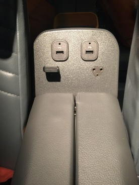 Additional USB in the armrest
