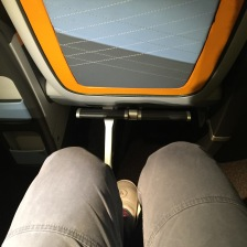 The legroom isn't that huge after all