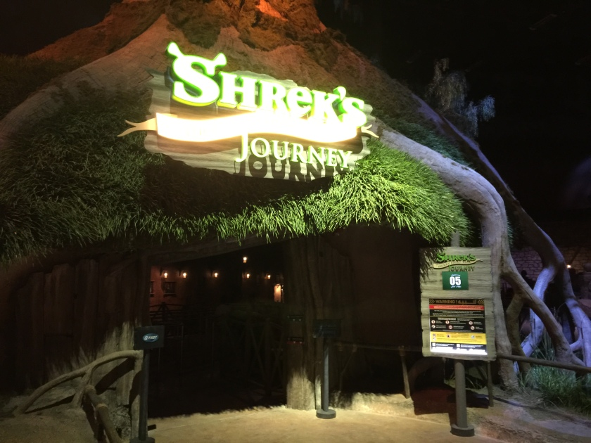 Shrek's Merry Fairy Tale Jounrey ride at Motiongate theme park Dubai
