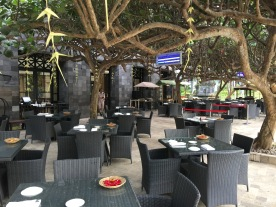 Pleasant outdoor seating