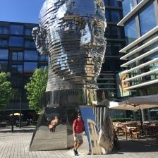 Franz Kafka rotating sculpture