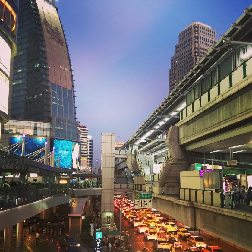 Bangkok at sundown