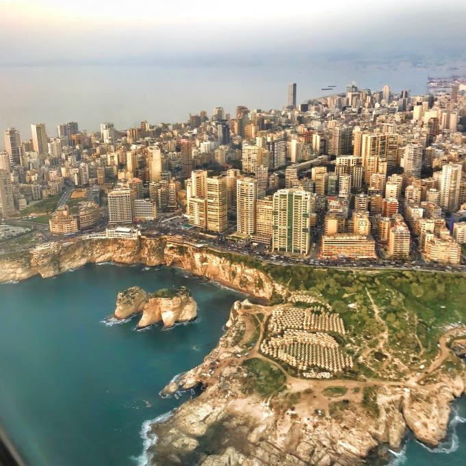 Landing in Rafic Hariri Airport